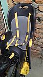 Велокресло Tilly Maxi T-831 до 22 кг ставится на раму или багажник, фото 2
