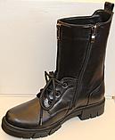 Высокие ботинки женские на каблучке деми от производителя ЛИ12, фото 3