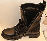 Высокие ботинки женские на каблучке деми от производителя ЛИ12, фото 4