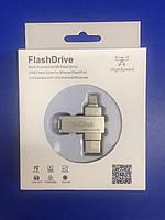 Флешка переходник hp для iPhone и iPad FlashDrive / Флеш накопитель на 64 Гб