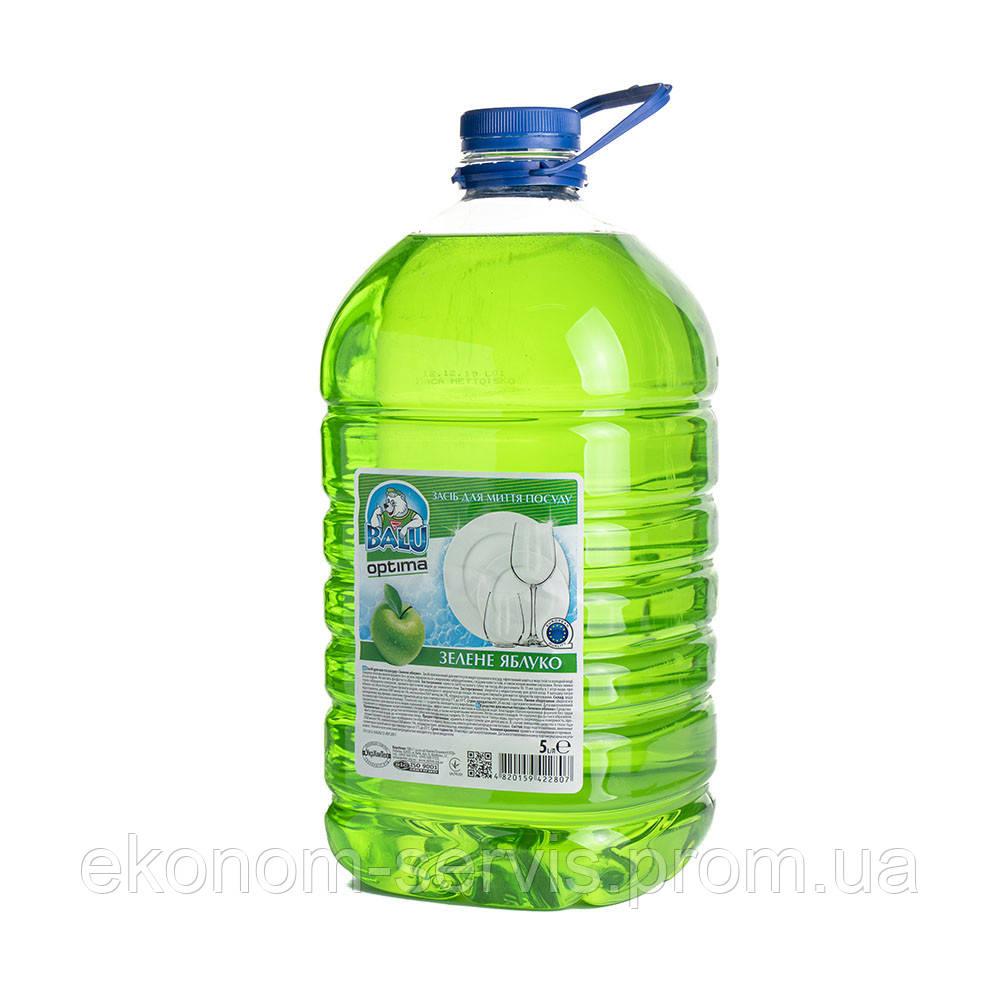 Средство для мытья посуды BALU OPTIMA  Зеленое яблуко, бут. пет 5 л.