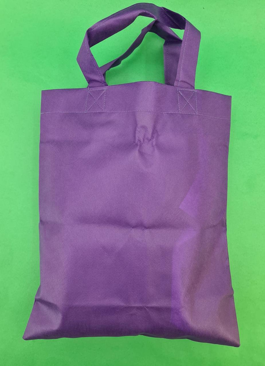 Сумка фиолетовая (спанбонд) 33х38 см ручка 16 см (1 шт)