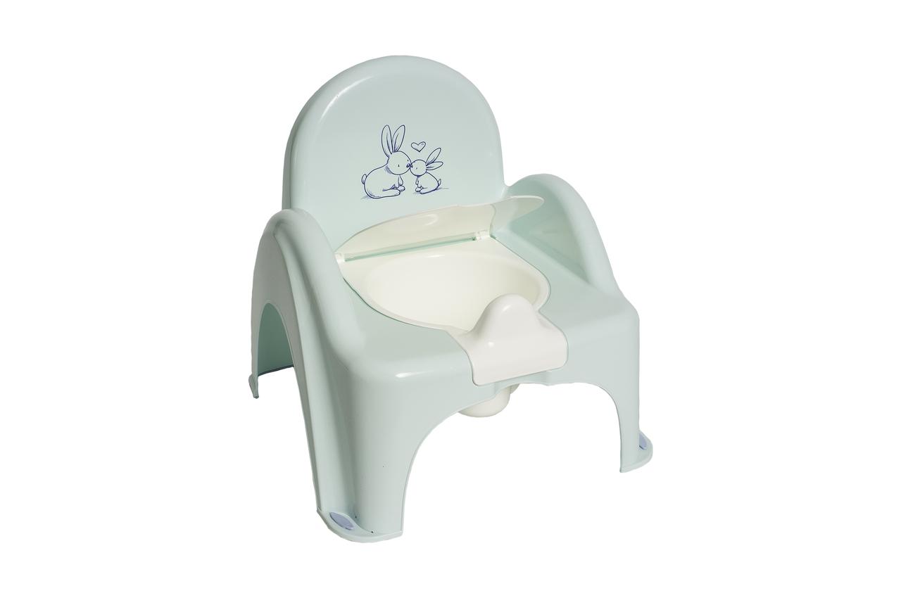 """Детский горшок-стульчик  """"Зайчики"""" Tega Baby (цвет мятный)"""