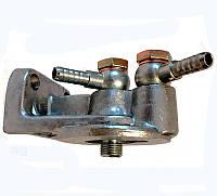 Корпус фильтра топливного МТЗ в сборе (кронштейн фильтра) с подключением 245-1117081