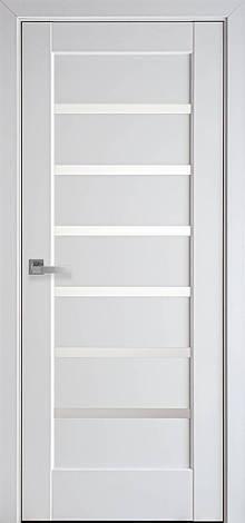 Двери межкомнатные Новый Стиль Линнеа стекло сатин ПВХ 2000х700 Белые, фото 2