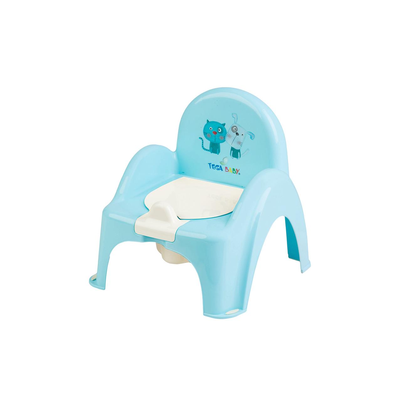 """Детский горшок-стульчик  """"Пёс и Кот"""" Tega Baby ( голубой)"""