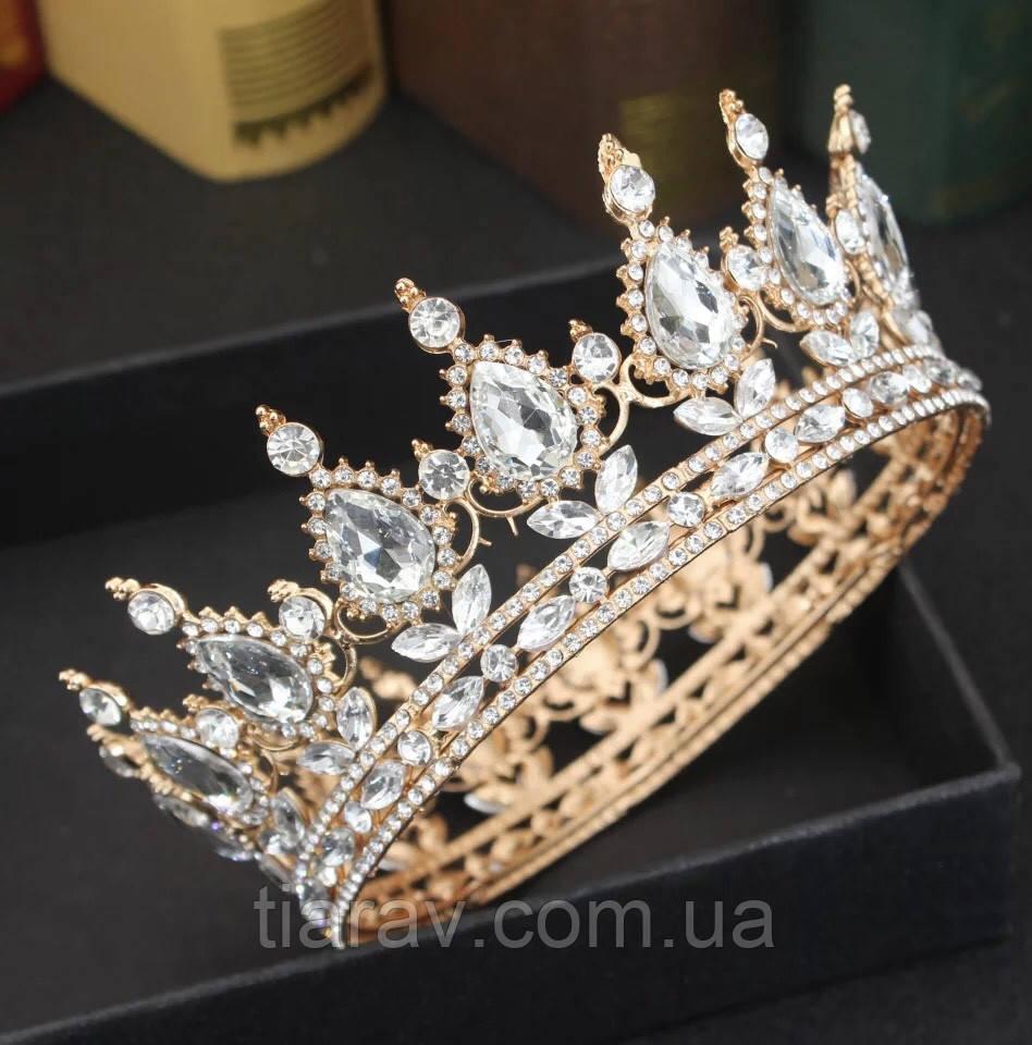 Корона на голову круглая МИРА, корона