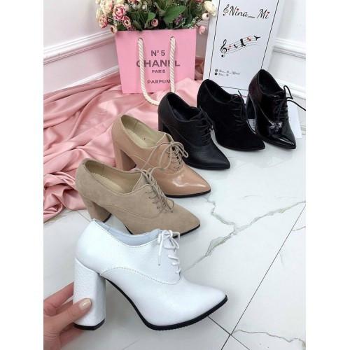 Черные женские лаковые туфли, закрытые осенние туфли на каблуке