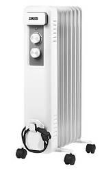Радіатор масляний Zanussi ZOH/CS-07W, 20 м2, 1500 Вт