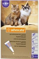 Bayer Advocate капли для кошек от 4 кг до 8 кг (1 пипетка )