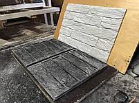 """Форма для декоративного кирпича  """"Кирпич Лофт"""" на 10 плиток, резиновая, бесшовная, фото 2"""