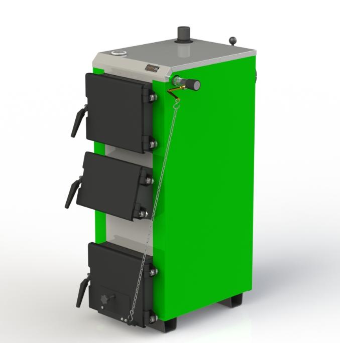 Твердотопливный бытовой котел Kotlant КО 14 кВт-3Д с механическим регулятором тяги