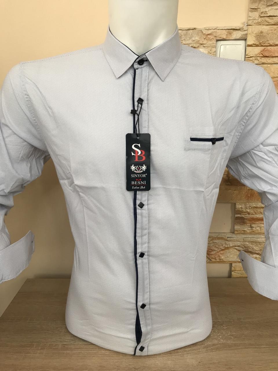 Розпродаж!!! Біла сорочка Seniyor Besni з принтом