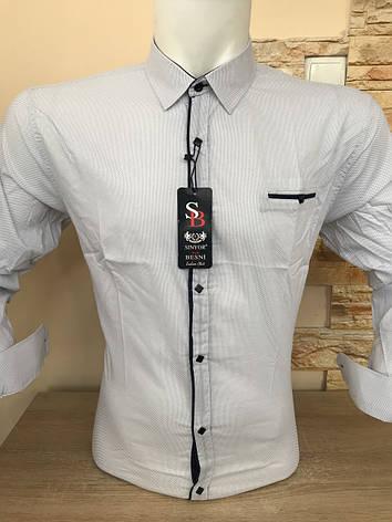 Розпродаж!!! Біла сорочка Seniyor Besni з принтом, фото 2