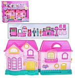 Кукольный дом на батарейках, свет, музыка с семьёй и мебелью, фото 3