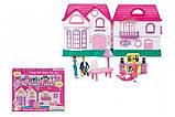Ляльковий будиночок розкладний з ляльками і меблями арт.16526, фото 4