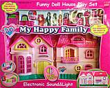 Кукольный дом на батарейках, свет, музыка с семьёй и мебелью, фото 7