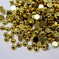 Полужемчуг золото 2мм. (50шт.)