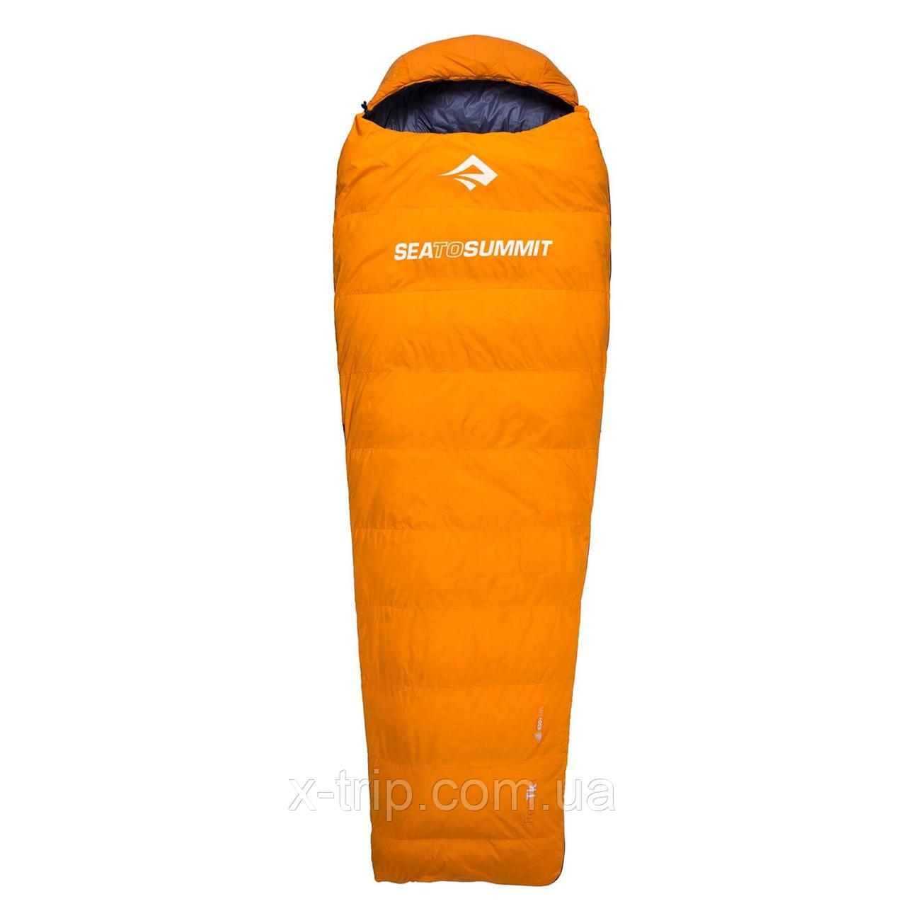 Спальник Sea To Summit Trek TKII Ultra Dry Orange, 183 см Left Zip (STS ATK2-R500L-UD)