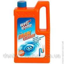 Жидкое средство для прочистки труб и сифонов Well Done Drain Cleaner 1000 мл
