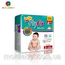 Памперси для дітей Fly Fix 2, 3-6 кг. 82 шт.