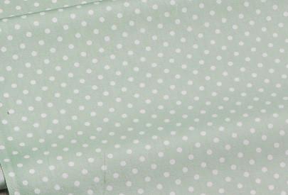 Сатин-твил Точки 2 мм на пыльно-зелёном
