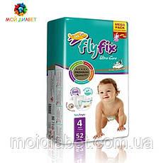 Памперси для дітей Fly Fix 4, 7-18 кг 52 шт.