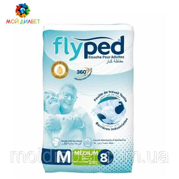 Памперси для дорослих Fly Ped, розмір M, 8 шт.