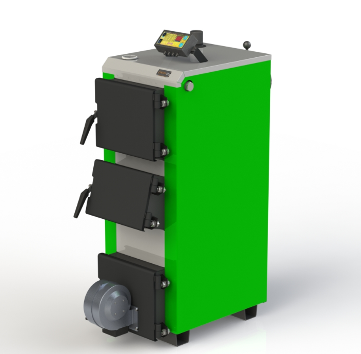 Котел твердопаливний побутової Kotlant ДО 16 кВт-3Д з електронною автоматикою та вентилятором