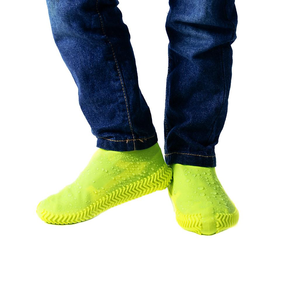Чехлы-бахилы для обуви силиконовые Coolnice размер L (42-45) ,Чехлы на обувь от грязи и дождя,