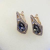 Ювелирная бижутерия серьги Xuping с кристаллами Swarovski покрытые золотом 18К