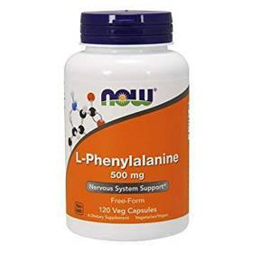 Фенілаланін NOW L-Phenylalanine 500 mg (120 caps)