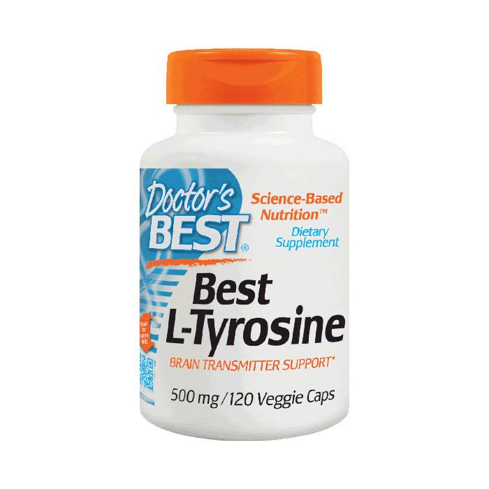 Тирозин Doctor's BEST Best L-Tyrosine 500 mg (120 veg caps)