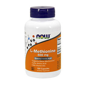 L-метионин NOW L-Methionine 500 mg 100 caps