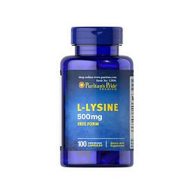 Лізин Puritan's Pride L-Lysine 500 mg 100 caps