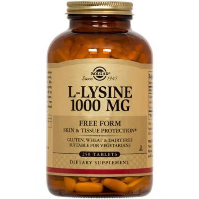Аминокислота L-лизин Solgar L-Lysine 1000 mg 100 tabs