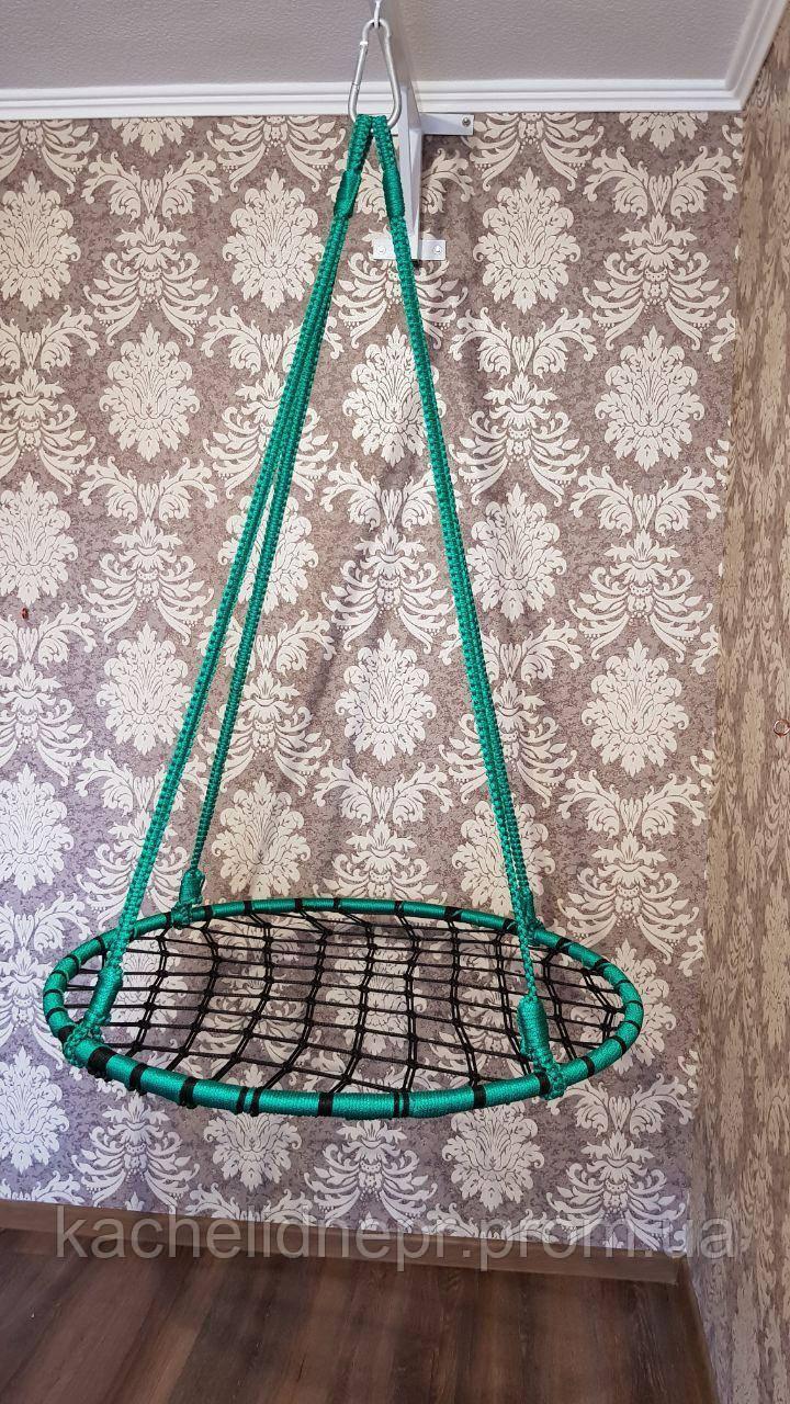 """Качели """"гнездо аиста"""", черно-зеленая, 100см"""