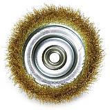 Щетка чашечная 125 мм х М14  по металлу и дереву из латунированной витой проволоки для болгарки (Германия), фото 4