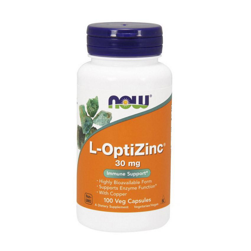 Цинк NOW L-OptiZinc 30 mg (100 caps)