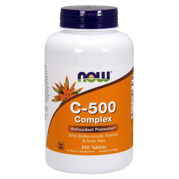 Вітамін C NOW C-500 Complex 250 tab