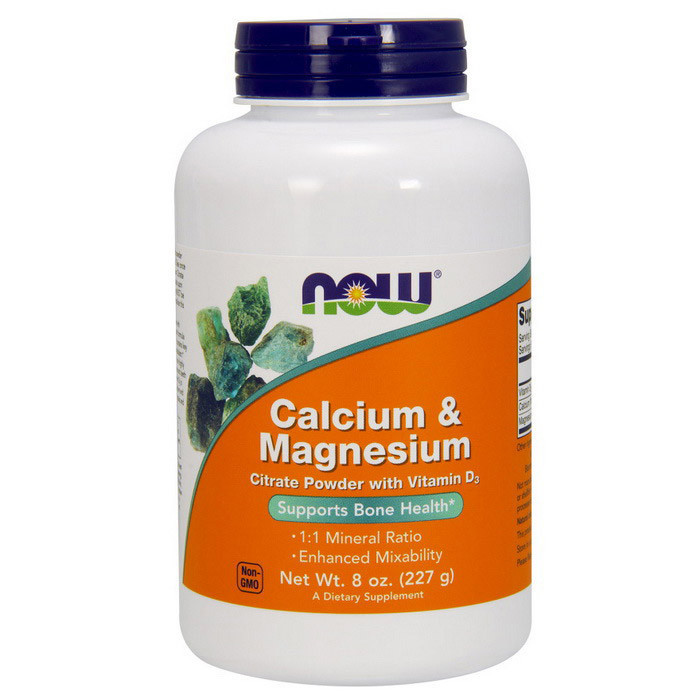 Кальцій і магній NOW Calcium & Magnesium 227g