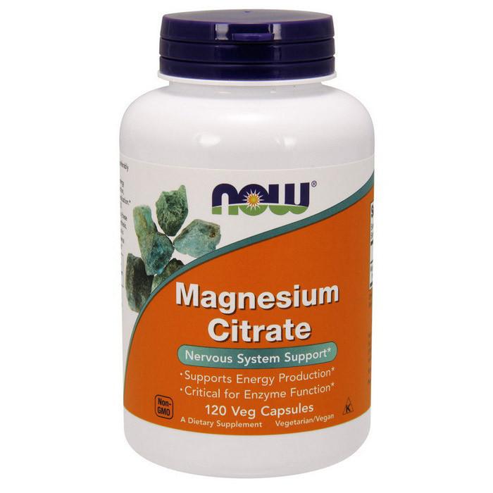 Магний NOW Magnesium Citrate 120 veg caps