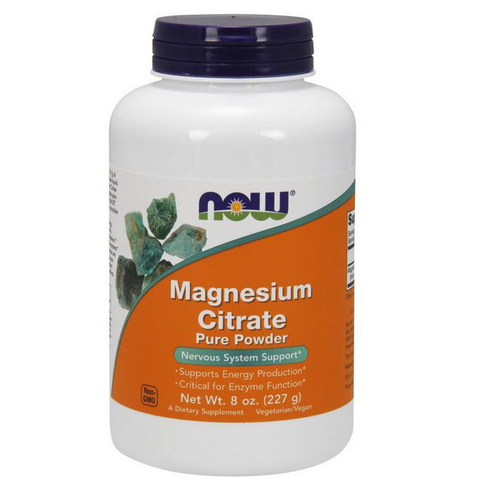 Магній NOW Magnesium Citrate Pure Powder 227 g