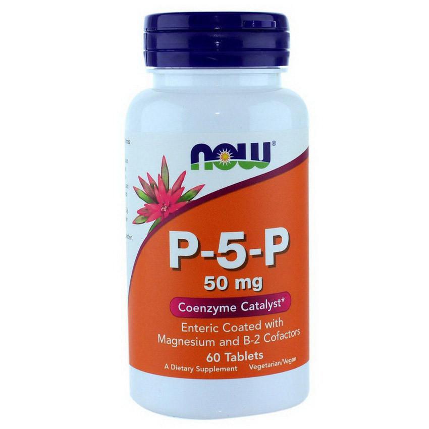 Пиридоксальфосфат NOW P-5-P 50 mg 60 tabs