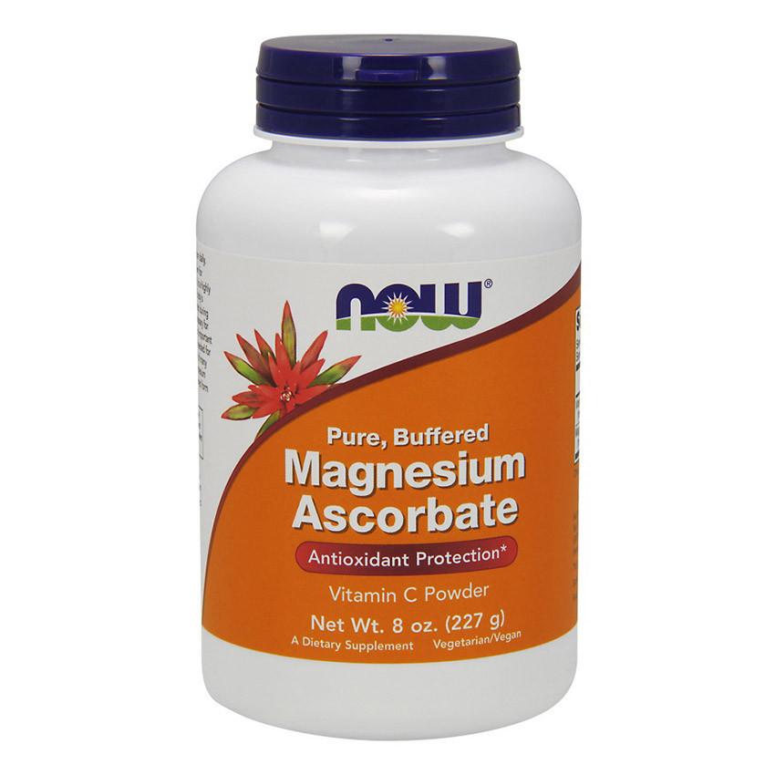 Магній (як аскорбат магнію) NOW Magnesium Ascorbate 227 g