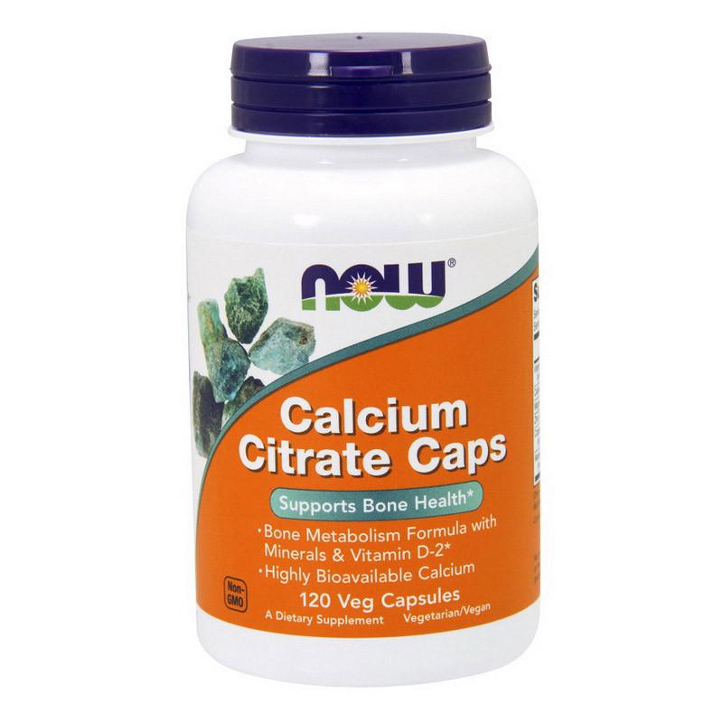 Кальцій цірат NOW Calcium Citrate Caps 120 caps veg
