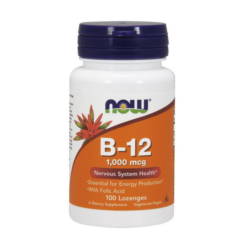 Витамин B-12 NOW B-12 1000 mсg 100 Lozenges