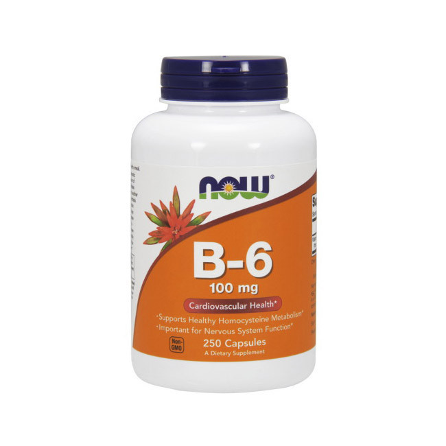 Витамин B-6 (пиридоксин HCl) NOW B-6 100 mg 250 caps