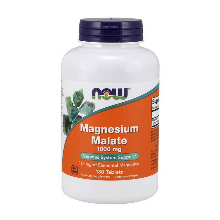 Магний малат NOW Magnesium Malate 180 tab