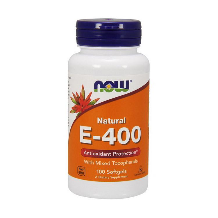 Витамин Е NOW Natural E-400 100 softgels